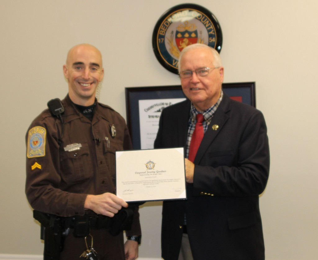 Sheriff Brown's Corporal Gardner Receives National Award